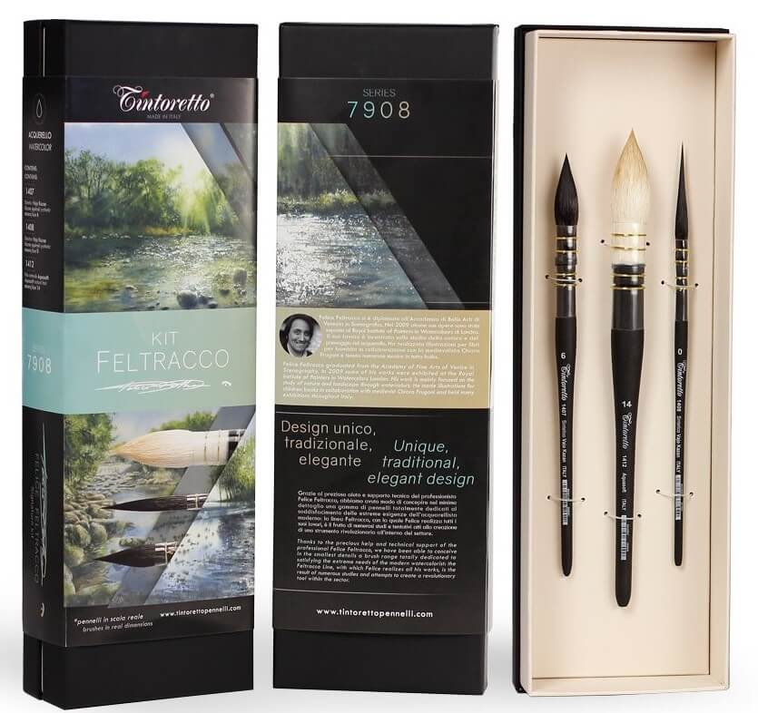 Tintoretto Feltracco Watercolor Brush Sets are available in-store and online at The PaintBox, home to the widest range of traditional and progressive Art Supplies in Adelaide. At The PaintBox we source and stock quality Art Supplies which we import directly. This means that you have access to a greater variety and pay less. These are perfect for any artists from amateur to professional. It is also perfect for any budget size. Check out our loyalty rewards programme, which makes your artistic ambitions achievable. At these prices why not give these a go. Be sure to check out our other fabulous finds on our website and start saving today. Our knowledgeable staff at The PaintBox can guide you through our carefully selected ranges of Art Supplies for all applications. This is only a small selection of our stock. We sell many brands, weights, and textures, in-store only. Please call 08 8388 7776 to enquire. We offer art tuition too! TINTORETTO FELTRACCO WATERCOLOUR BRUSH SETS OF 3 CAN BE DELIVERED ANYWHERE WITHIN AUSTRALIA OR NEW ZEALAND
