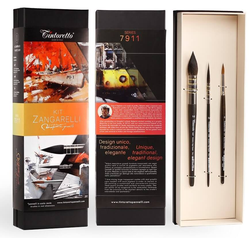 Tintoretto Zangarelli 7911 Watercolour Brush Sets are available in-store and online at The PaintBox, home of the widest range of traditional and progressive Art Supplies in Adelaide. At The PaintBox we source and stock quality art supplies which we import directly. This means that you have access to a greater variety and pay less. These are perfect for any artists from amateur to professional. They are also perfect for any budget size. Check out our loyalty rewards programme, which makes your artistic ambitions achievable. At these prices why not give these a go. Be sure to check out our other fabulous finds on our website and start saving today. Our knowledgeable staff at The PaintBox can guide you through our carefully selected ranges of art supplies for all applications. This is only a small selection of our stock. We sell many brands, weights, and textures, in-store only. Please call 08 8388 7776 to enquire. We offer art tuition too! TINTORETTO ZANGARELLI WATERCOLOUR BRUSH SETS OF 3 CAN BE DELIVERED ANYWHERE WITHIN AUSTRALIA OR NEW ZEALAND
