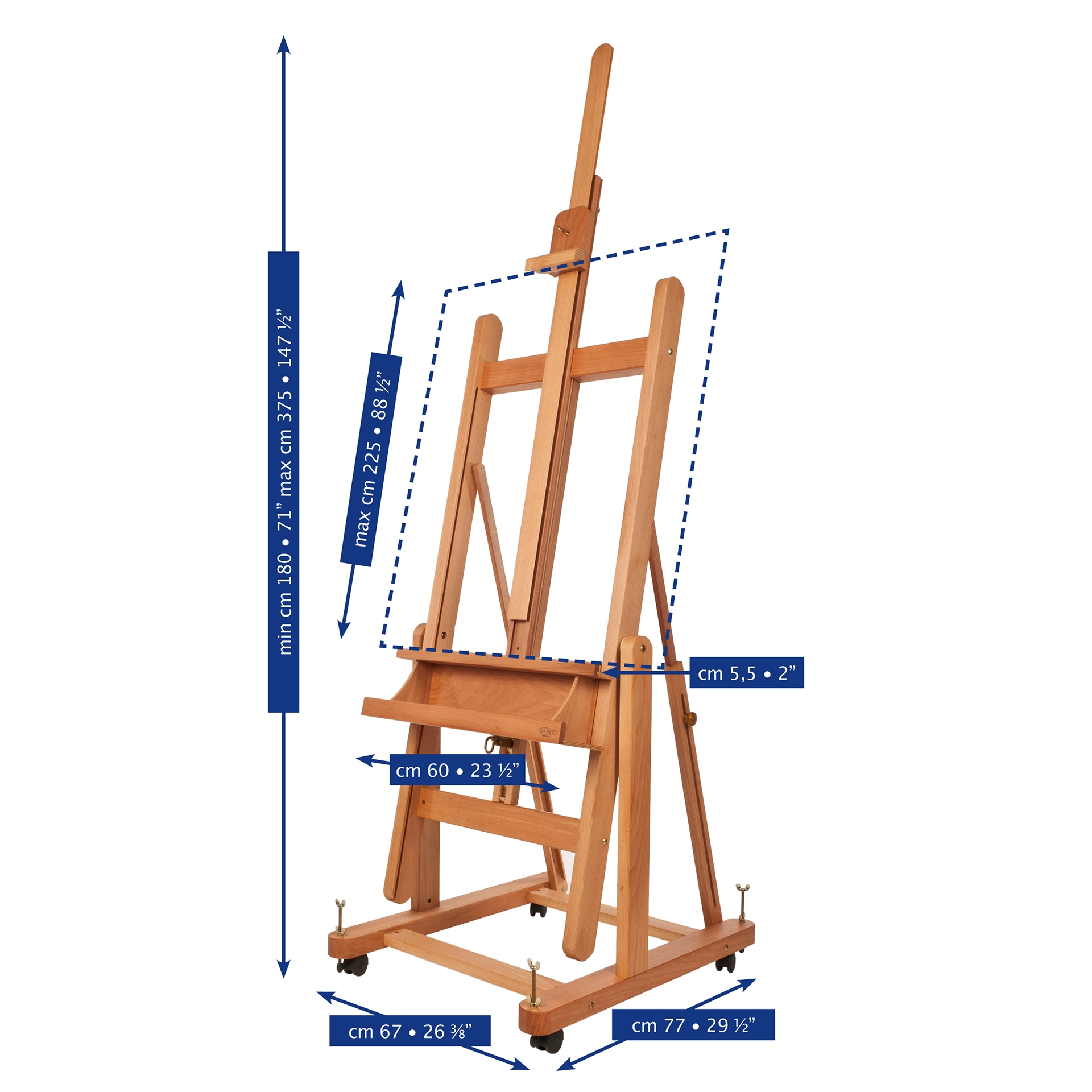 MABEF M-18 Convertible Studio easels are available from our warehouse and online at The PaintBox, home of the widest range of traditional and progressive Art Supplies in Adelaide. At The PaintBox we source and stock quality art supplies which we import directly. This means that you have access to a greater variety and pay less. These are perfect for any artists from amateur to professional. They are also perfect for any budget size. Check out our loyalty rewards programme, which makes your artistic ambitions achievable. At these prices why not give these a go. Be sure to check out our other fabulous finds on our website and start saving today. Our knowledgeable staff at The PaintBox can guide you through our carefully selected ranges of art supplies for all applications. This is only a small selection of our stock. We sell many brands, weights, and textures, in-store only. Please call 08 8388 7776 to enquire. We offer art tuition too! MABEF M18 CONVERTIBLE STUDIO EASELS CAN BE DELIVERED ANYWHERE WITHIN AUSTRALIA OR NEW ZEALAND Please Note: This product is classified as an Oversize or Bulky Item and will add significant freight surcharges, see below. Delivery time from our warehouse is14 days. We aim to make the shipping charge as cost effective as possible and to ensure you receive your art supplies in good condition. Please review our complete Shipping Policy information from the link in the footer for more details.
