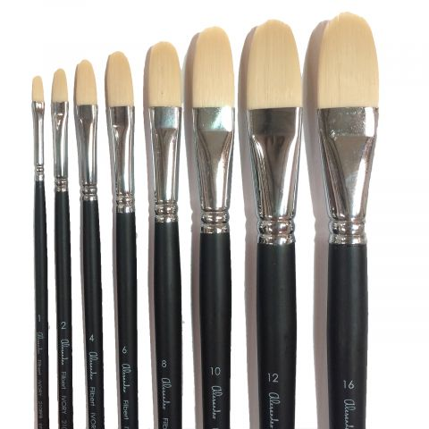 Alesandro Stiff Synthetic Filbert Brushes are available in-store and online at The PaintBox, home of the widest range of traditional and progressive Art Supplies in Adelaide. At The PaintBox we source and stock quality art supplies which we import directly. This means that you have access to a greater variety and pay less. These are perfect for any artists from amateur to professional. They are also perfect for any budget size. Check out our loyalty rewards programme, which makes your artistic ambitions achievable. At these prices why not give these a go. Be sure to check out our other fabulous finds on our website and start saving today. Our knowledgeable staff at The PaintBox can guide you through our carefully selected ranges of art supplies for all applications. This is only a small selection of our stock. We sell many brands, weights, and textures, in-store only. Please call 08 8388 7776 to enquire. We offer art tuition too! ALESANDRO STIFF SYNTHETIC FILBERT BRUSHES CAN BE DELIVERED ANYWHERE WITHIN AUSTRALIA OR NEW ZEALAND